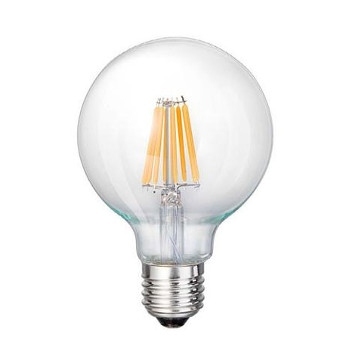 led e27 g125 filament lamp 7w 3000k 750lm e fective solutions. Black Bedroom Furniture Sets. Home Design Ideas